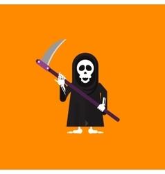 A grim reaper character for halloween vector