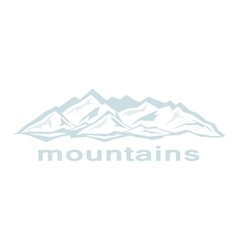 Abstract mountains blue ridges vector