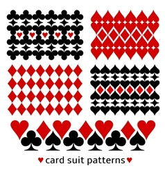 Background patterns with card suits vector image vector image
