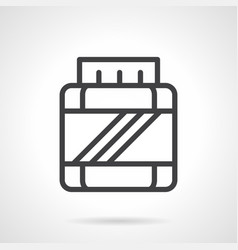 bcaa jar simple line icon vector image