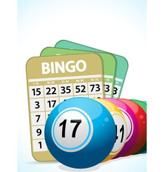 Bingo balls and cards2 vector image vector image