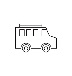 Bus icon outline vector image