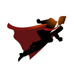 Businessman as superhero flying fast vector