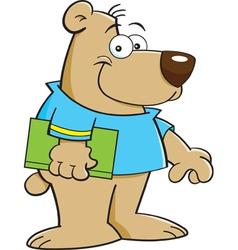 Cartoon Bear with Book vector image vector image