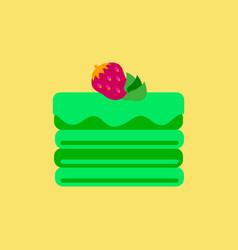 Delicious chocolate strawberry cake vector