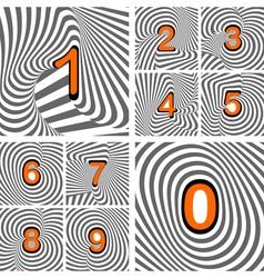 Design numbers set vector