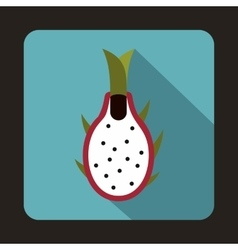 Dragon fruit icon in flat style vector