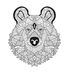 Hand drawn decorative bear vector