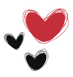 Heart tags for inscriptions heart labels for vector