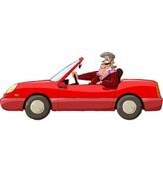 Man in a car vector image