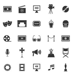 Movie icons on white background vector