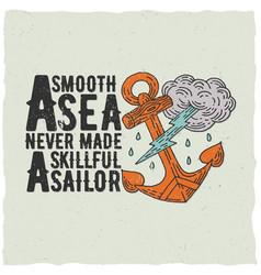 Original nautical poster vector