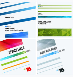 set of abstract design elements for graphic vector image vector image