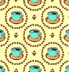 Sketch broken coffee cup vector