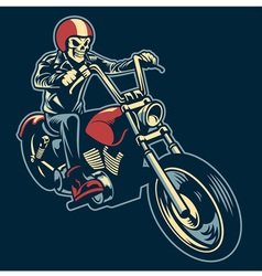 Skull ride a big motorcycle vector