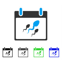 Sperm calendar day flat icon vector