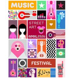 Street art poster template design vector