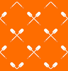 Two wooden crossed oars pattern seamless vector