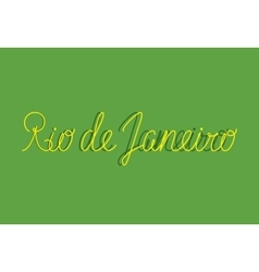 Sign rio de janeiro can be use for banners or vector