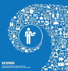 Waiter icon Nice set of beautiful icons twisted vector image