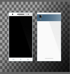 White smartphone with blank screen vector