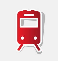 Train sign  new year reddish icon with vector