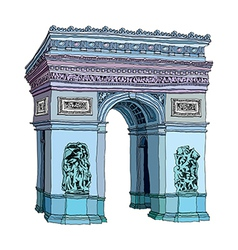A triumphal arch stand on vector