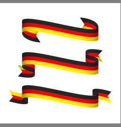 Three modern ribbons with the german tricolor vector