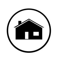 Black house silhouette vector