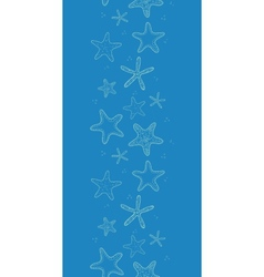 Starfish blue texture vertical seamless pattern vector