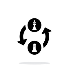 Castling simple icon on white background vector