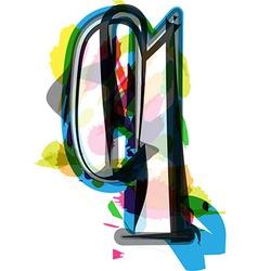 Artistic font - letter q vector