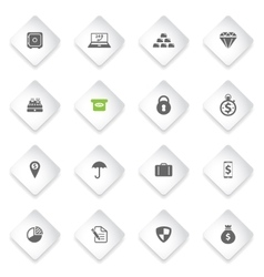Finance simply icons vector image