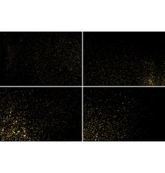 Gold glitter texture set vector