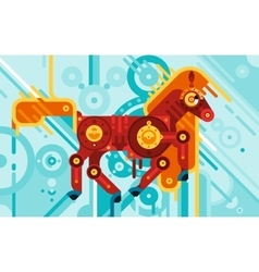 Mechanic horse abstract concept vector