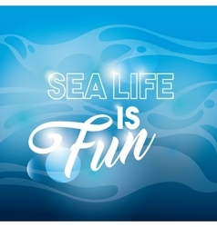 Blue background icon sea life design vector