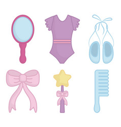Ballet related icons vector