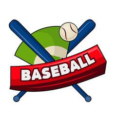 bats with ball and baseball word vector image