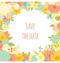 Beautiful floral frame Wedding invitation vector image
