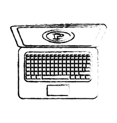 bitcoin icon money symbol online vector image