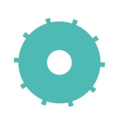 blue silhouette gear wheel icon vector image vector image