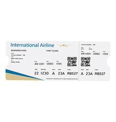 Boarding pass ticket vector image vector image
