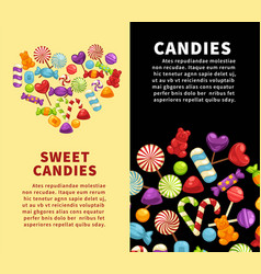 candies sweets and confectionery candy shop vector image vector image