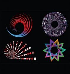 circular designs vector image