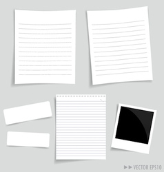 Collection white papers vector image vector image