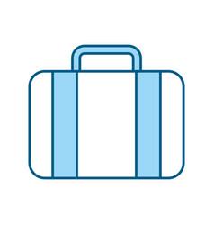 Color blue suitcase cartoon vector