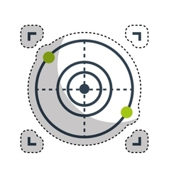 drone target isolated icon vector image vector image