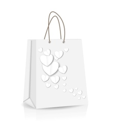 Empty Shopping Bag with heart for advertising and vector image