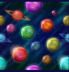fantastic space background seamless vector image vector image