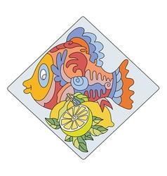 Fish LEMON vector image